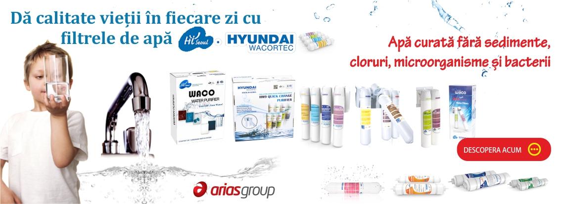 Da calitate vietii cu filtrele de apa Hyundai Wacortec!